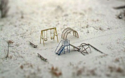 Playground in Miniature  Photographer Unknown